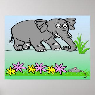 Ely o elefante - vê o poster bonito de um miúdo do