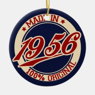 Em 1956 ano feito do aniversário ornamento de cerâmica redondo