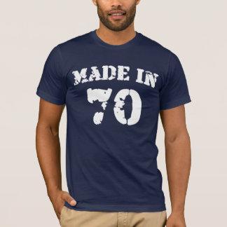 Em 1970 camisa feita
