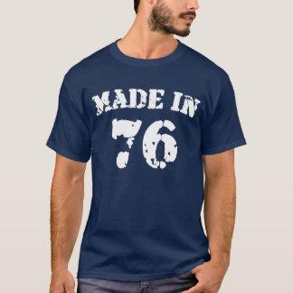Em 1976 camisa feita