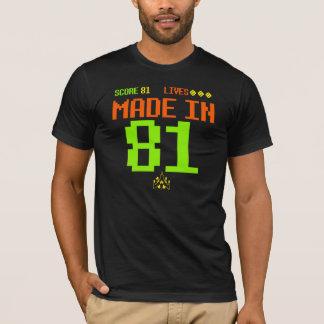 Em 1981 T inspirado RETRO FEITO do aniversário da Camiseta