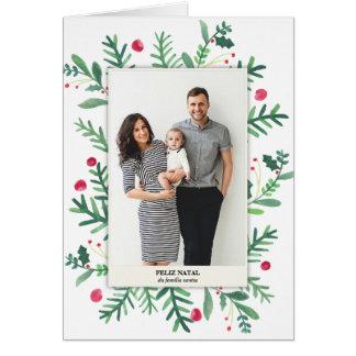 Em Aquarela | Feliz de Pintura natal Cartão Comemorativo