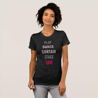Em Broadway eu amo a camiseta do partido do ator