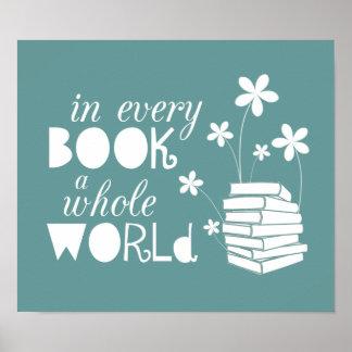 Em cada livro um mundo inteiro pôster