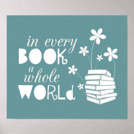 Em cada livro um mundo inteiro posteres