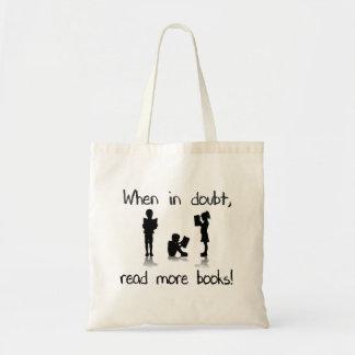 Em caso de dúvida, leia mais livros sacola tote budget