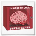 Em caso do amor, quebre o vidro e use o cérebro impressão de fotos