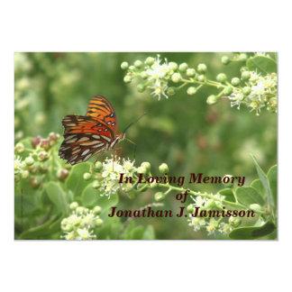 Em celebração Loving da memória da borboleta da Convite 12.7 X 17.78cm