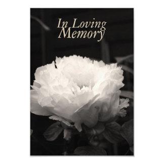 Em celebração Loving da peônia da memória da vida Convite 8.89 X 12.7cm