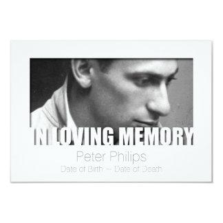 Em celebração Loving do modelo da memória da vida Convite 8.89 X 12.7cm