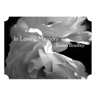 Em cerimonia comemorativa Loving do rosa branco da Convite 12.7 X 17.78cm