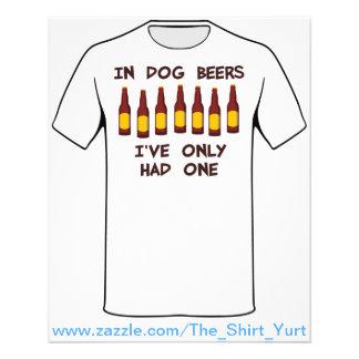 Em cervejas do cão eu tive somente um flyer 11.43 x 14.22cm