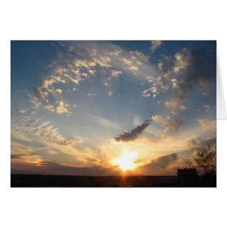 Em direção ao céu cartão vazio da beleza