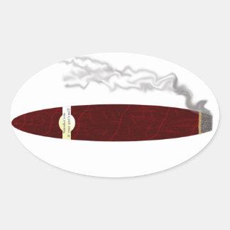 em do fumo se você obteve o em adesivos em formato oval