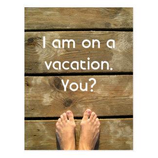 Em férias cartão postal