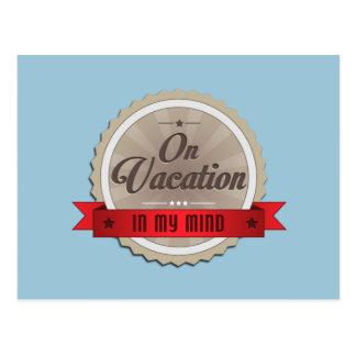 Em férias na minha mente cartão postal
