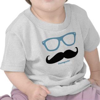 em incógnito - bigode engraçado e máscaras azuis tshirts