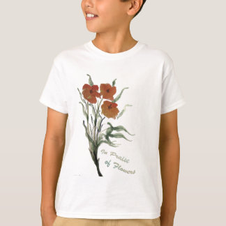 Em louvor das flores camisetas