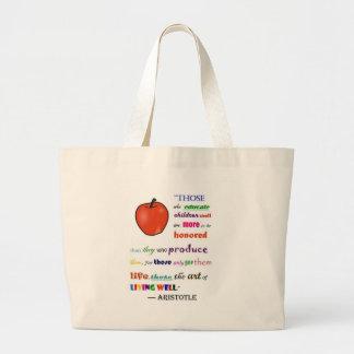 Em louvor dos professores bolsa de lona