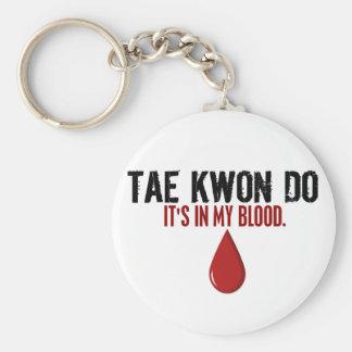 Em meu sangue TAE KWON FAÇA Chaveiros