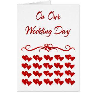 Em nosso cartão do dia do casamento