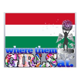 Em onde eles meninas húngaras? cartao postal
