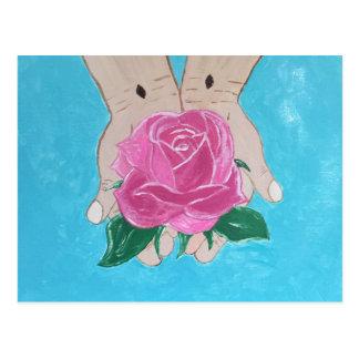 Em suas mãos cartão postal