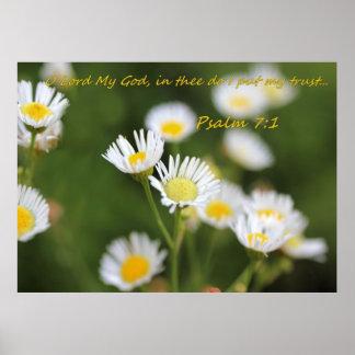 Em Thee faço eu pôr minha confiança - 7:1 dos salm Poster