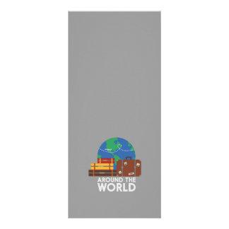 Em todo o mundo 10.16 x 22.86cm panfleto