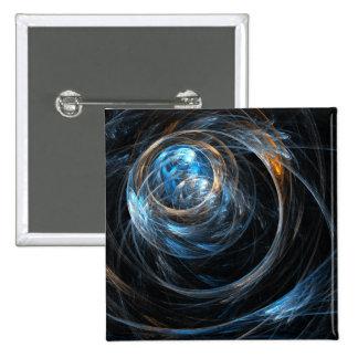 Em todo o mundo botão da arte abstracta (quadrado) bóton quadrado 5.08cm