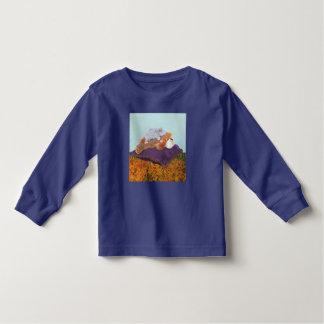 """""""Em todo o mundo"""" camisa longa da luva T da"""