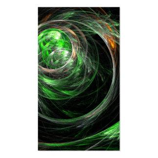 Em todo o mundo cartão de visita verde da arte