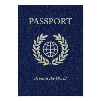 em todo o mundo: passaporte convite 12.7 x 17.78cm