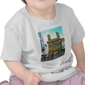 Em torno de Grâ Bretanha porta da catedral de Camiseta