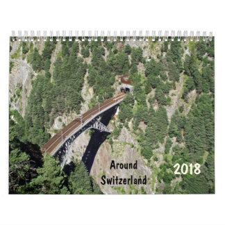 em torno do calendário da suiça 2018