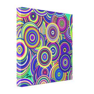Em torno e em torno das canvas impressão de canvas esticada