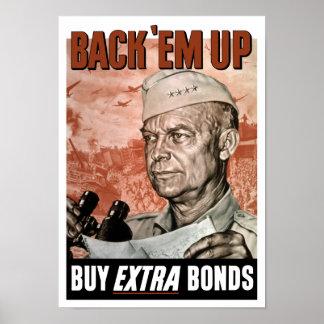 Em traseiro do ` acima -- General Eisenhower Poster