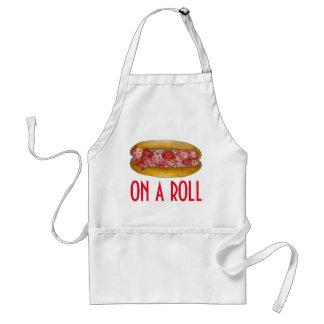 Em um avental de Foodie do sanduíche do rolo da