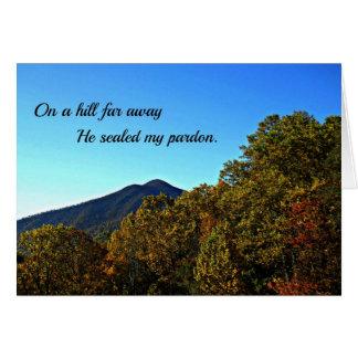 Em um monte longe, selou meu perdão cartão comemorativo