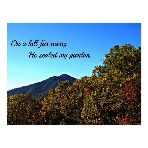 Em um monte longe, selou meu perdão cartoes postais