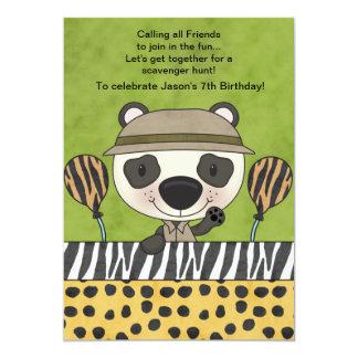 Em um safari - convite de aniversário