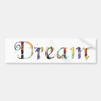 Em uma palavra: Sonho Adesivo Para Carro