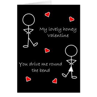 Em volta dos namorados da curvatura cartão