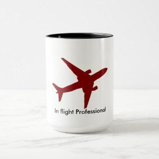 Em vôo caneca de café profissional