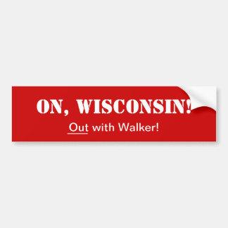 Em Wisconsin! _Out com caminhante! Adesivo Para Carro