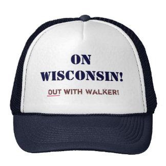 Em Wisconsin! _Out com caminhante! Bonés