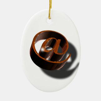 Email-email-1376384 Ornamento De Cerâmica Oval