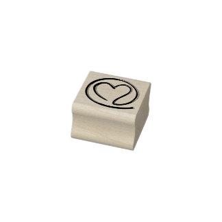 email para você - design do coração + suas ideias carimbo de borracha