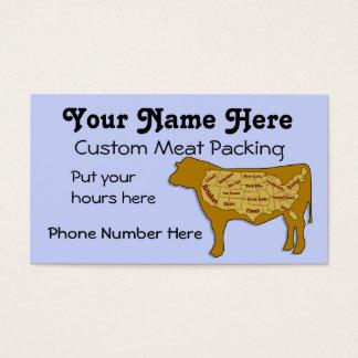 Embalagem e chacina da carne cartão de visitas