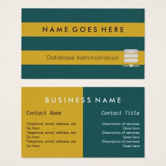 """""""Embandeira"""" cartões de visitas do administrador"""